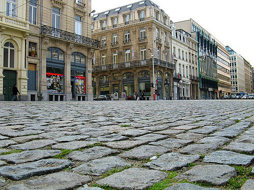 Cobblestone Streets of Belgium - image taken from: https://www.flickr.com/photos/invisibleink/2876459933