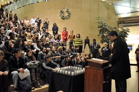 NYU community gathers to hold vigil for Newtown victims