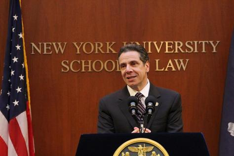 Cuomo calls for transparent legislators in speech at NYU Law