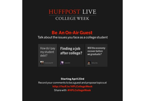 HuffPost Live College Week invites students to speak out