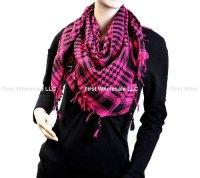 Keffiyeh Scarves #6018 Hot Pink/Black [6018] - $2.50 ...