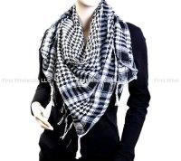 Keffiyeh Scarves #6020 Black/ White [6020] - $2.50 ...