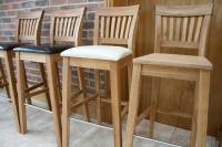 Oak Bar Stools & Kitchen Stools   Tall Oak Breakfast Bar ...