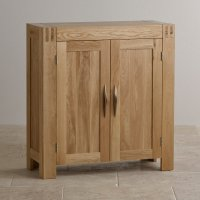 Alto Media Storage Unit in Natural Solid Oak | Oak ...