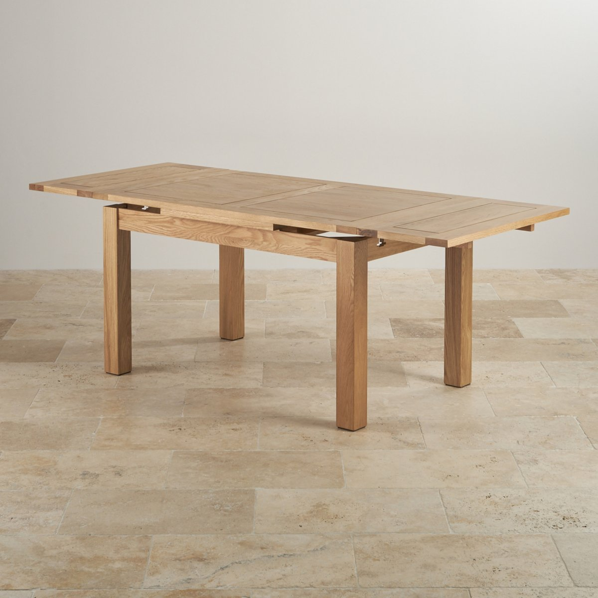 Dorset 4ft 7quot Natural Oak Extending Dining Table Seats Up To 8