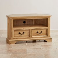 Edinburgh Corner TV Cabinet in Solid Oak | Oak Furniture Land