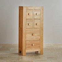 Oakdale 4ft Tall CD Storage Cabinet in Natural Solid Oak