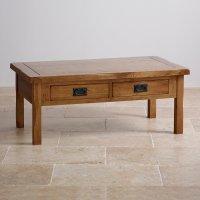 Original Rustic 4 Drawer Coffee Table in Solid Oak