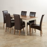 Shay Extending Dining Table Set | Oak Furniture Land