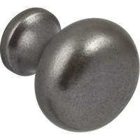 Cabinet Door Knob | Pewter Finish | 35mm | Traditional