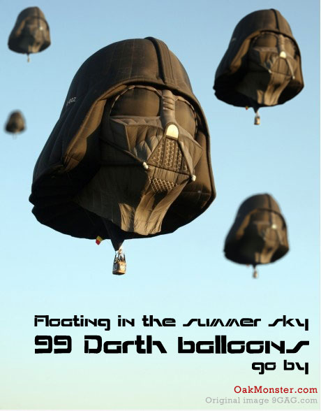 99 Darth Balloons
