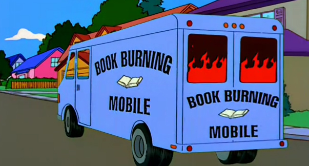 The Simpsons - Book Burning Mobile