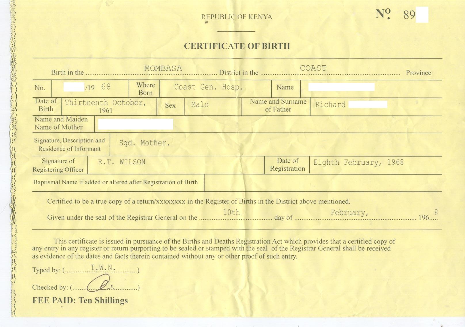 Fake Birth Certificate Template Online – Fake Birth Certificate Template Free