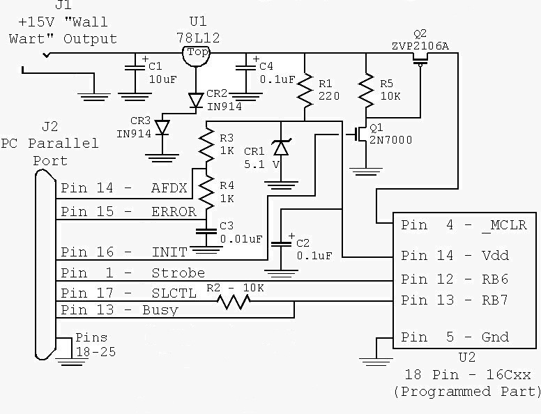 pickit 2 circuit diagram