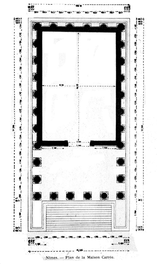 Maison Carree (plan) Roman, ca 10 CE Nimes, France PLANS - conference sign up sheet template