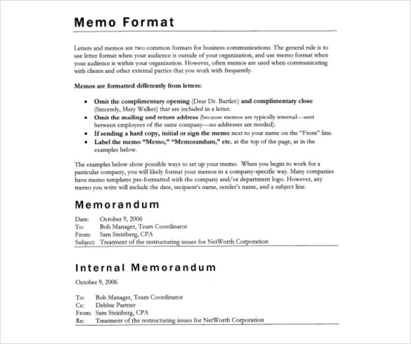 Memo Template Business Memo Professional Business Memo - sample email memo template