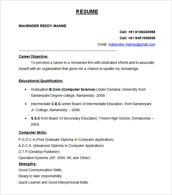 resume formats in word resume formatting service sample example formats of resumes