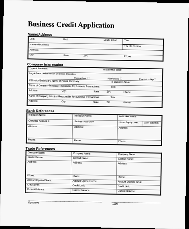 Business credit application form pdf - credit application