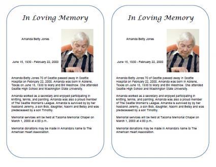 obituary maker free - Josemulinohouse