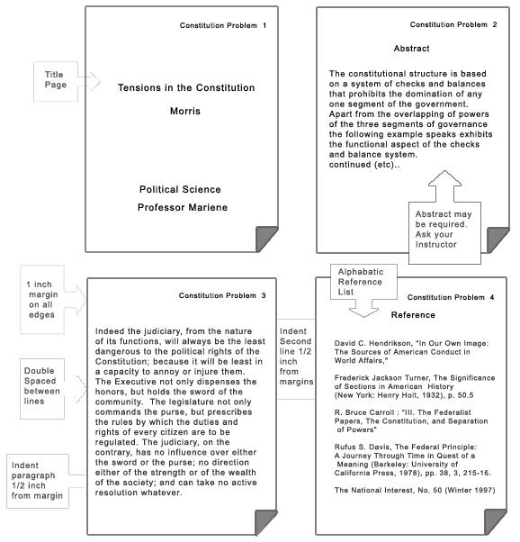 apa style term paper template