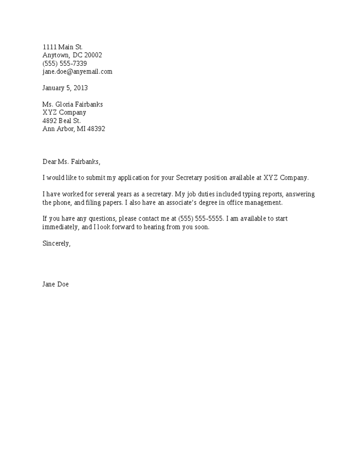sample of cover letter for a resumes