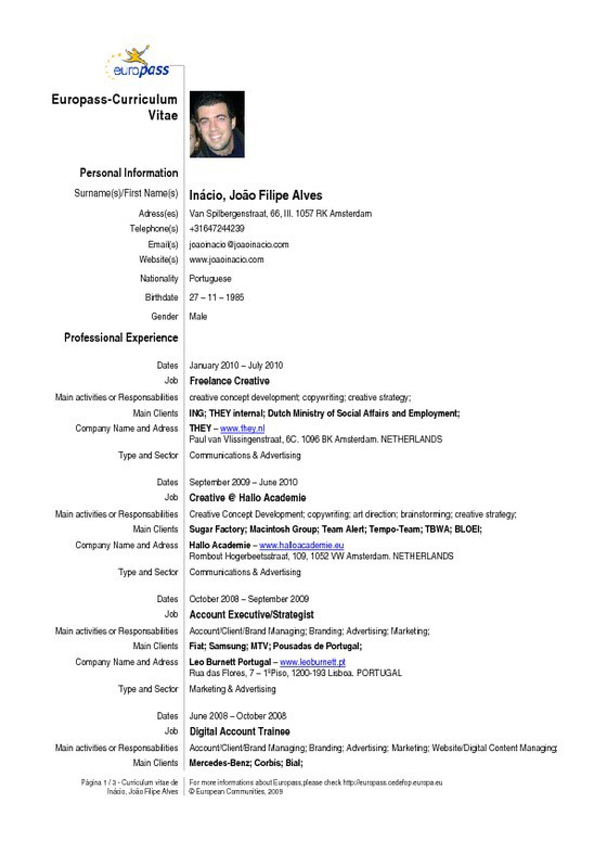 example of resume in english - Idealvistalist