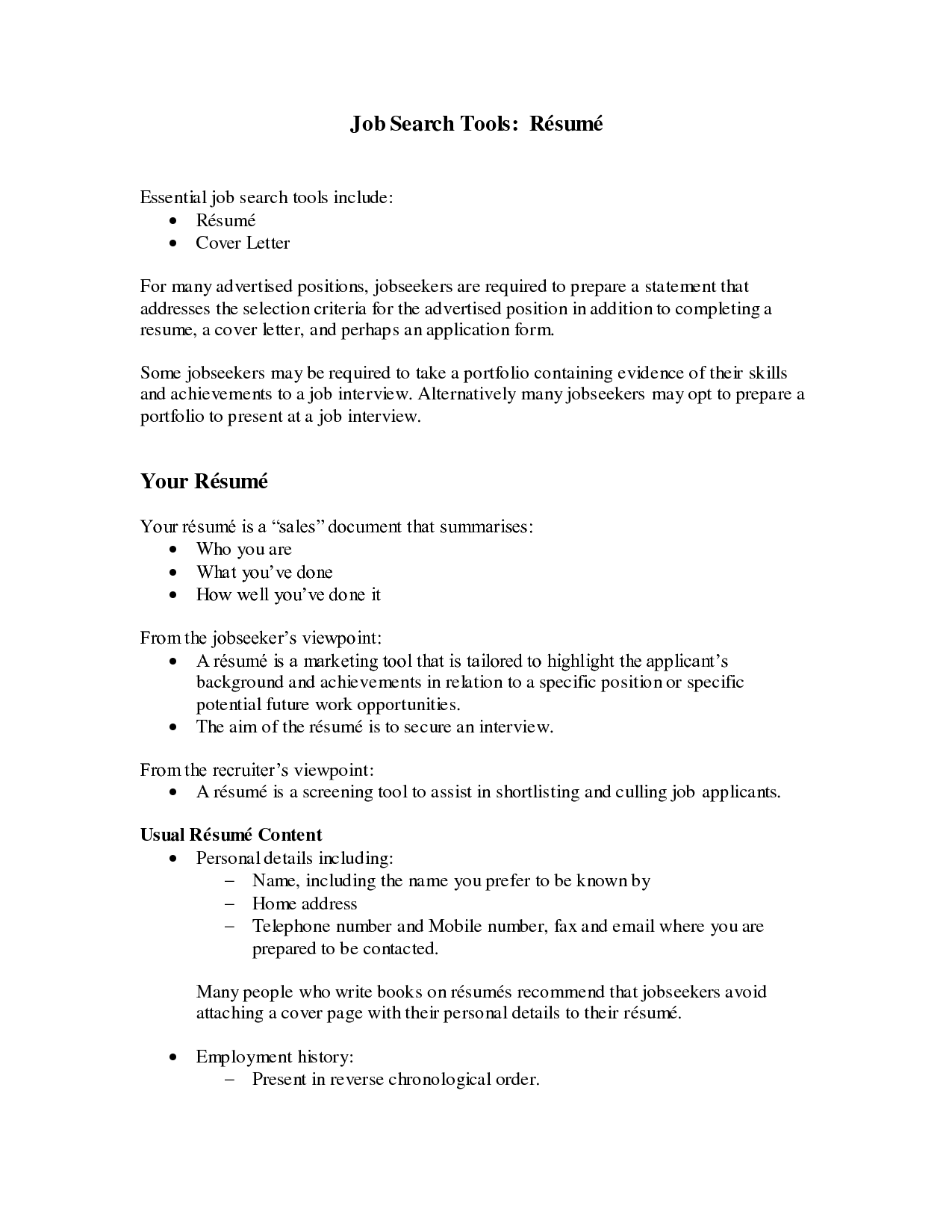 sales objectives examples for resume