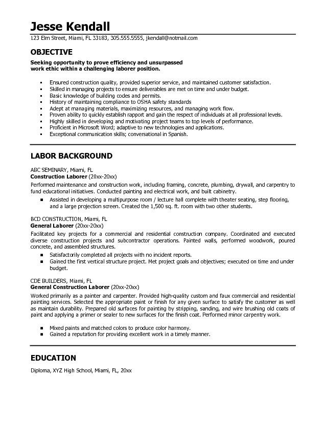 high school resume objective statements for college