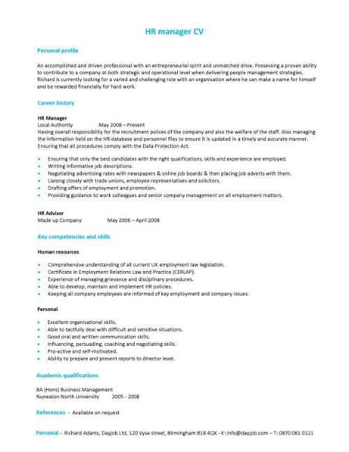 Resume Sample for Employment - Obfuscata - employment resume template