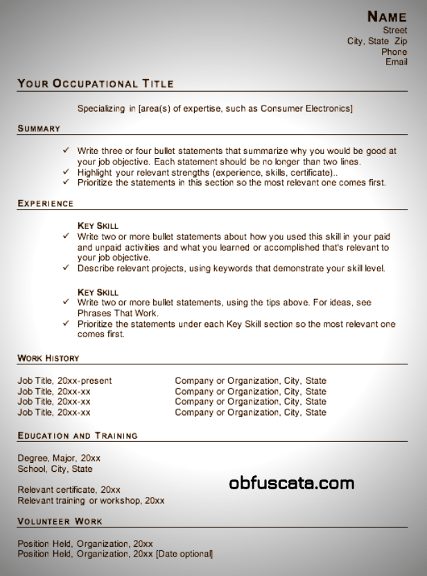 google docs templates resume free
