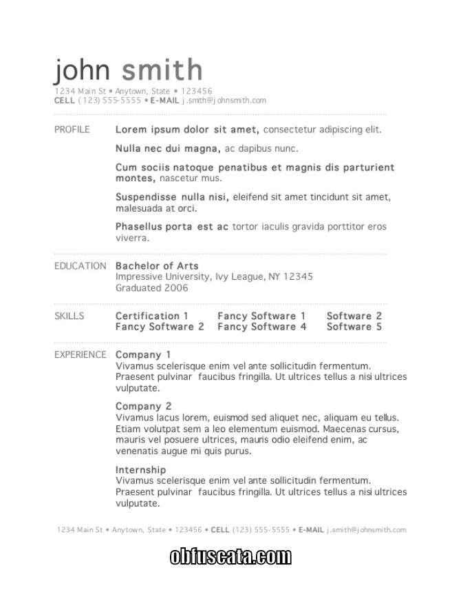 Resume Templates - resume templates education