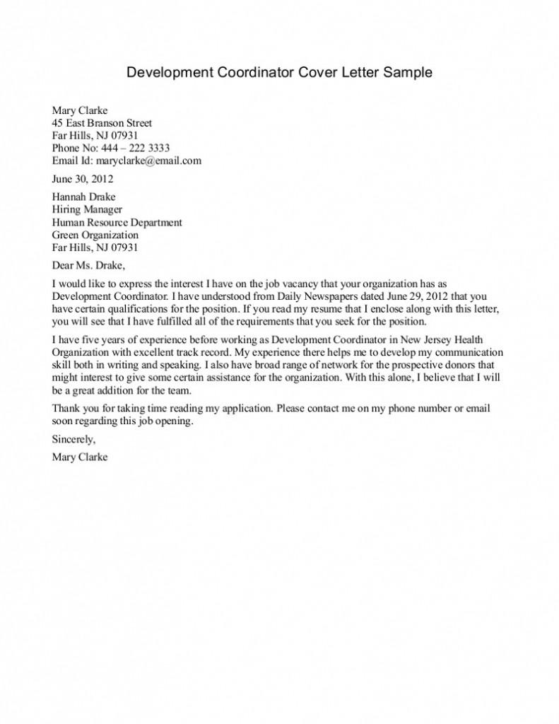 letter for applying for internship