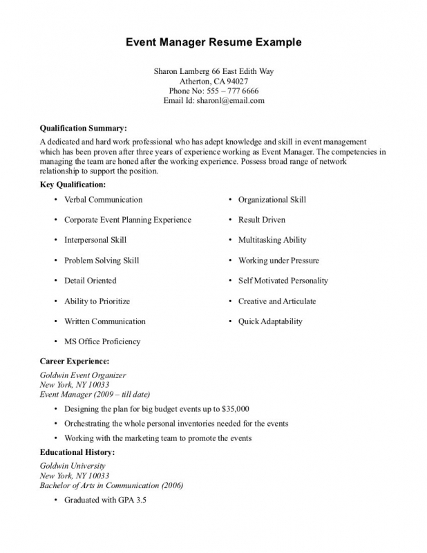Resume Work Experience Samples - resume with work experience