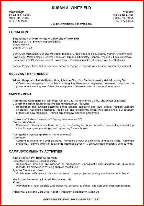 Resume Templates - preparing a resume