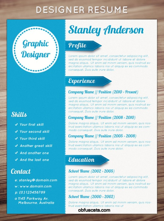 Resume Templates - great looking resume templates