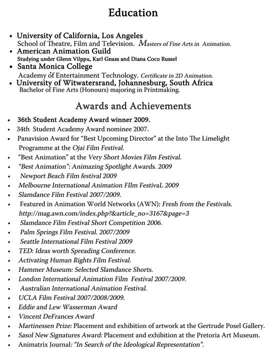 Achievement Resume - achievements resume