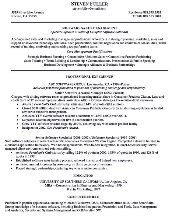strategic account manager resume strategic account