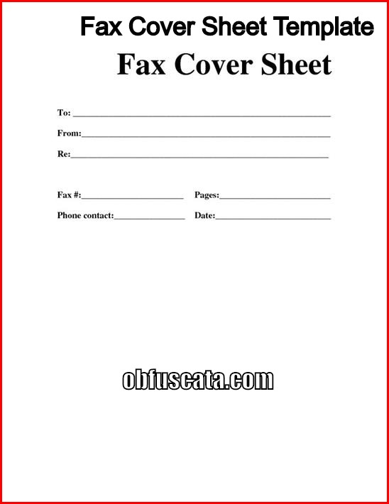 Best Fax Cover Sheet Templates
