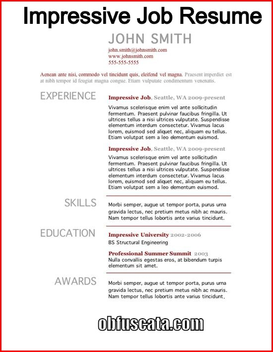How to Create an Impressive Job Resume? - how to create a job resume