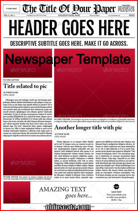 old newspaper article template