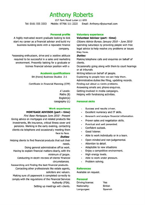 Best CV Examples - best cv examples