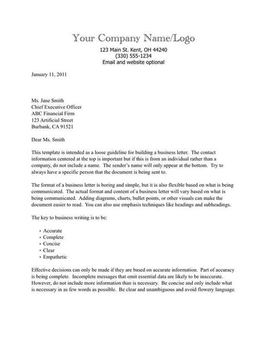 Business Letter Template Congratulations New Position - business letter templet