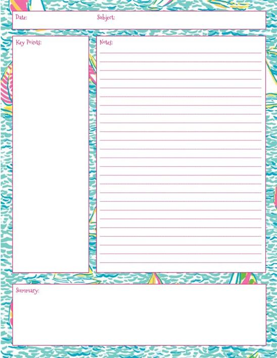 Cornell Notes Template - cornell notes paper