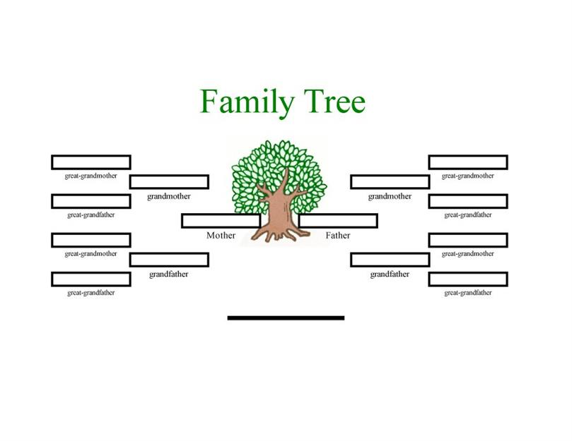 family tree outline printable
