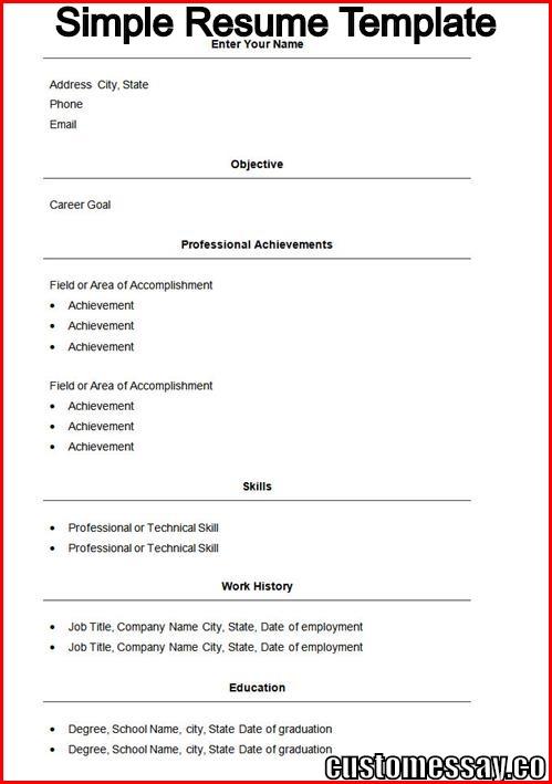 Simple-Resume-Templatejpg - template for simple resume