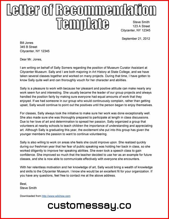 Where can you find a Letter of Recommendation Template? - free letters of recommendation template