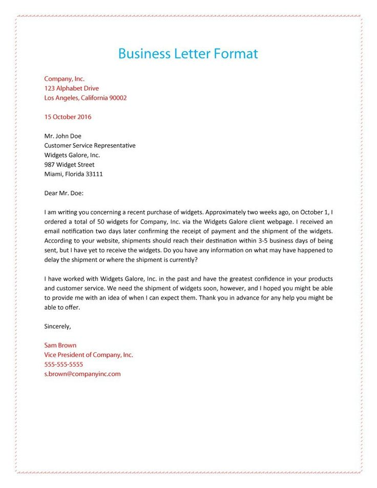 form for business letter - Boatjeremyeaton - business letter example