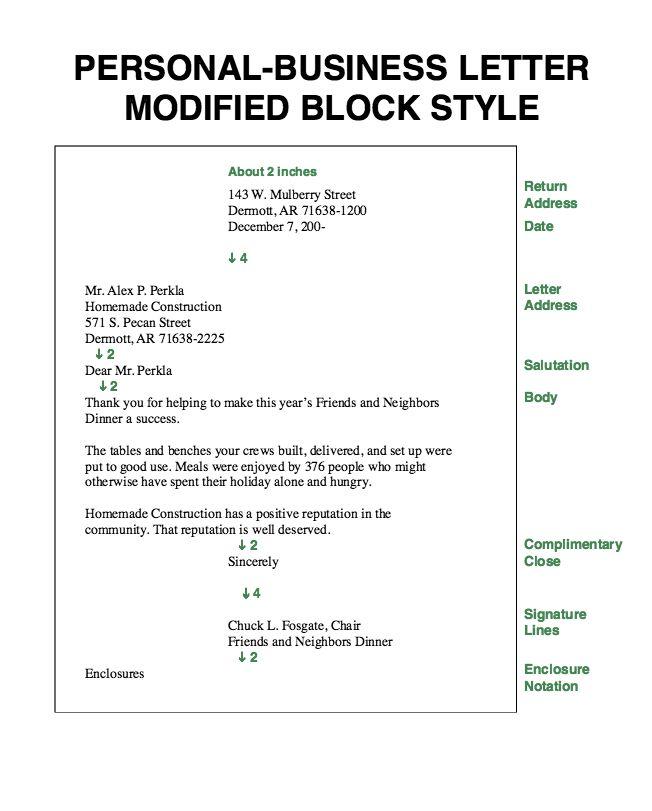 Best Business Letter Format - letter formats