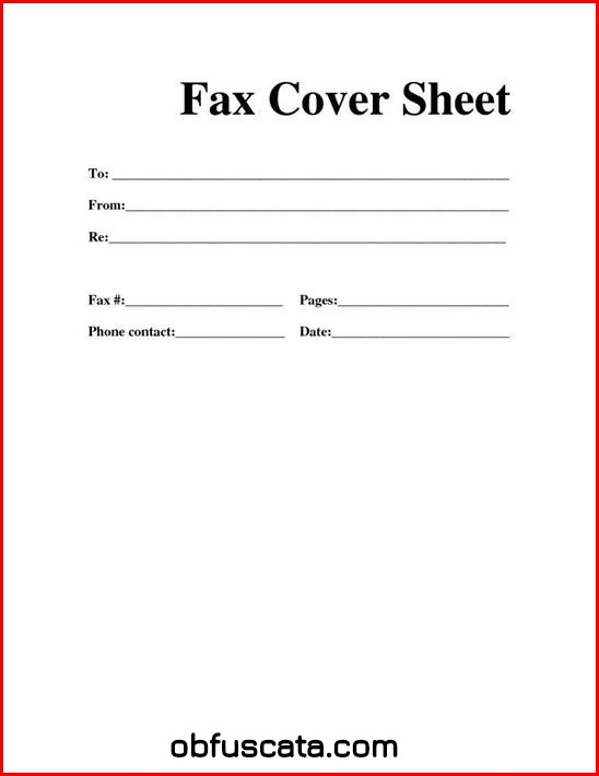What is Fax Cover Sheet?