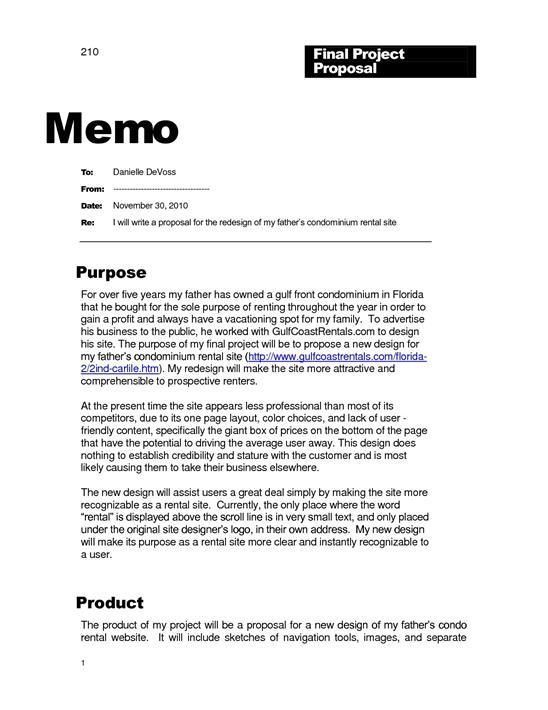 Memo Template - project memo template